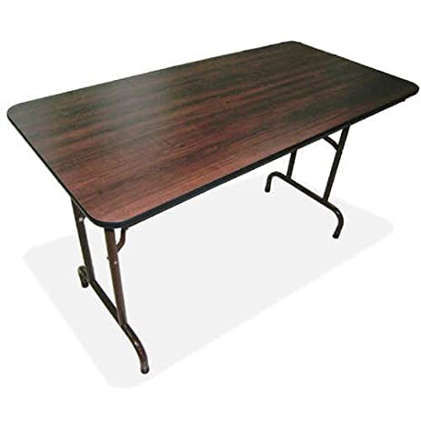 Lorell Folding Table, 72 By 30 By 29 Inch, Mahogany