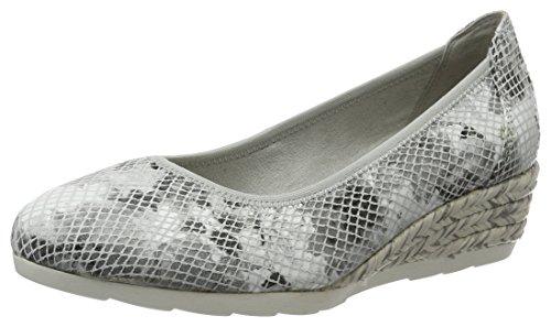 tenue 204 de gris Jana de gris punta color para 22204 cerrada mujer Bombas qF7PwIq