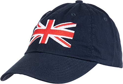 (Union Jack Flag | UK United Kingdom Great Britain British Baseball Cap Dad Hat Navy Blue)