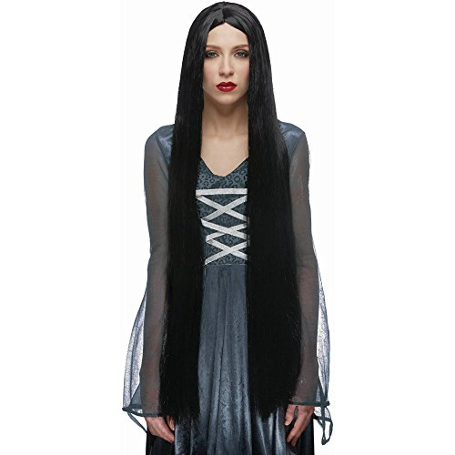 36 Inch Witch Wig Black Adult -