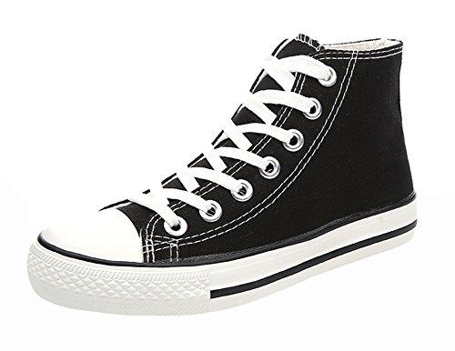 High Sneakers Black1 Trendy Canvas Top Popuus Mens Trendy Popuus Mens fz6qqZSX
