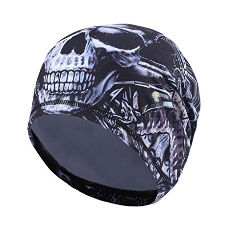 Runtlly Sweat-Wicking Skull Cap/Helmet Liner/Running Beanie Cap -Ultimate Thermal Retention Bandana/Fits Under Helmets Cycling Cap #7