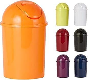 Sanwood 1006908 Bad Abfalleimer Coppa Mit Schwingdeckel Kosmetikeimer 5 L,  Kunststoff, Orange,