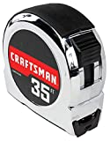 CRAFTSMAN Tape Measure, Chrome Classic, 35-Foot