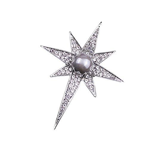 MonkeyJack Austria Crystal Rhinestone Star Brooch Pins Badge Suit Cloth Clip Lapel Pin