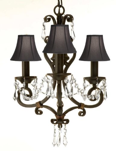 WROUGHT IRON CRYSTAL CHANDELIER LIGHTING CHANDELIER WITH