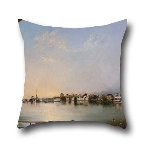 Oil Painting Henry Joseph Jackson - View Of Charleston (View From The East) Throw Pillow Covers 16 X 16 Inch / 40 By 40 Cm Gift Or Decor For Husband,son,couch,shop,christmas,coffee - Gift Charleston Shops