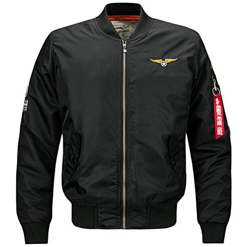 Bomber Parka - Winter Thick Bomber Parka Coats Military Jacket Chaqueta Cazadoras Hombre Black L