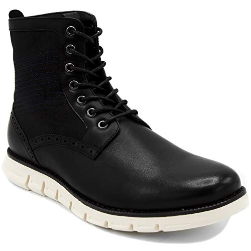 Nautica Men's Palmetto Mid Lace Up Fashion Chukka Derby Boot Black-12