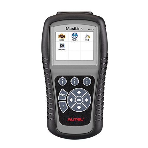 Autel MaxiLink ML619 CAN OBD II Code Reader +ABS/SRS Diagnostic Scan Tool, Turns off Engine Light (MIL) and ABS/SRS Warning Lights by Autel
