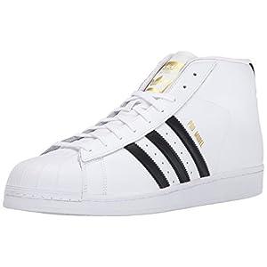 adidas Originals Men's Pro Model Fashion Sneaker, White/Black/White, 10.5 M US