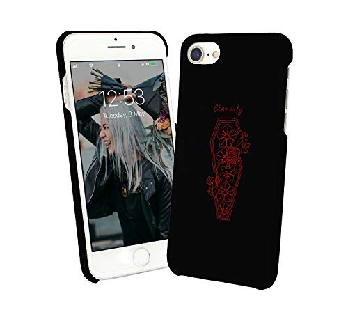 Eternity Coffin Walking Zombie Skeleton_004761 Protective Case Cover Hard Plastic iPhone XR (2018) Funny Gift Christmas for Him for Her ()