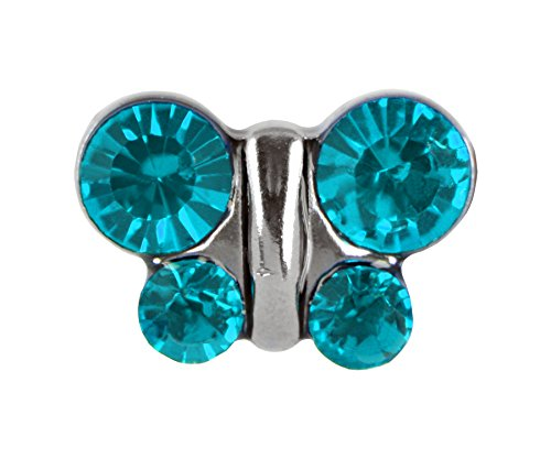 [Studex Sensitive Stainless Steel Birthstone Crystal Butterfly Stud Earrings - December / Blue] (Tiffany Blue Costume Jewelry)