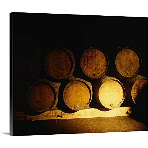 - GREATBIGCANVAS Gallery-Wrapped Canvas Entitled Barrels in a Cellar, Chateau Pavie, St. Emilion, Bordeaux, France by 14