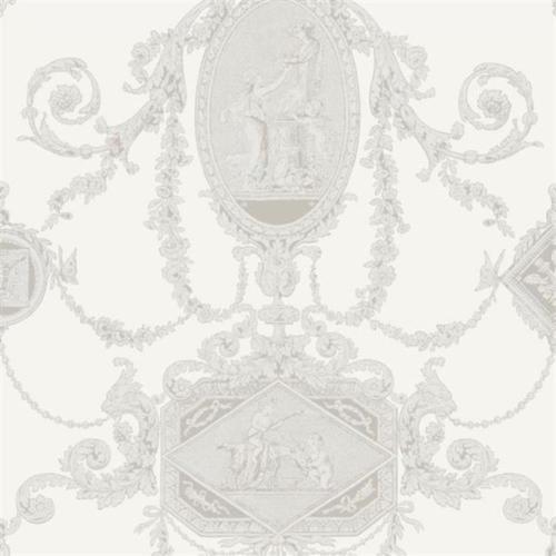 PV00200 - Regency Wall Plaques Cherubs Ivory Blendworth Wallpaper (Cherub Wallpaper)