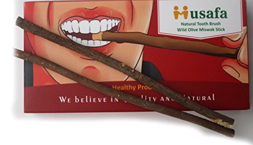 Natural Tooth Brush 7 Miswak Sticks Family Pack (Tree Name Wild Olive) Also Called Aswad Miswak Or Zaitoon Siwak Healthy Product.