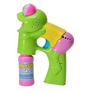 Froggy Pistola de pompas de jabón con luz, sonido y amarillo Camiseta–Froggy Pistola Burbujas de jabón Tortuga