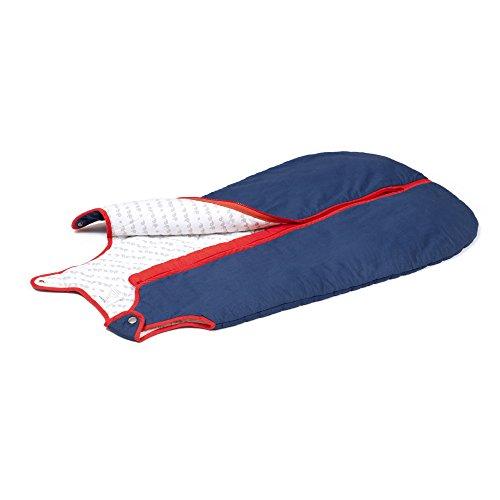 Baby deedee Sleep Nest Brand Sleeping Sack, Winter Wearable Blanket, Navy Red, Boys & Girls, Medium