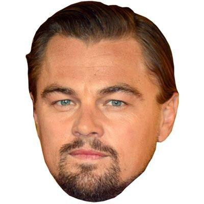 Leonardo Di Caprio Celebrity Mask, Cardboard Face and Fancy Dress Mask (Celebrity Face Masks)