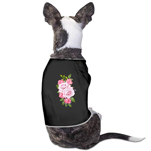 XUGGL Dog Girls Pajamas Floral Bouquet Composition Flowers Tender Pastel Tank Top Soft Cotton Dog Clothing Women