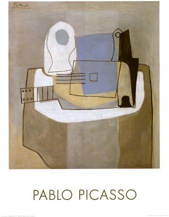 Guitarra, y botella frutero, c, 1921 Póster de Pablo Picasso, 24 x ...