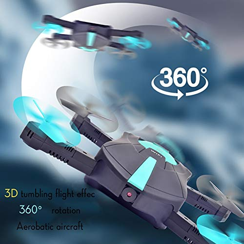 Drone with HD Camera 2 Million Pixels Collapsible Aerial Quadcopter Six-axis Gyroscope Portable, Gravity Sensor Mobile APP Control ( Design : 2 Million Pixels )