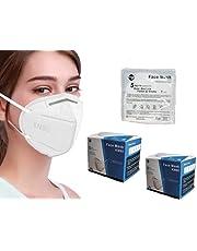 sacre solutions Cubrebocas KN95 40 Piezas Certificado con empaque individual, tapabocas de 5 capas con ajuste nasal oculto, industrial color blanco; calidad premium, cómodo para el cuidado entre amigos y familia