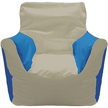 Amazon Com Ocean Tamer Arm Chair Bean Bag White Sports