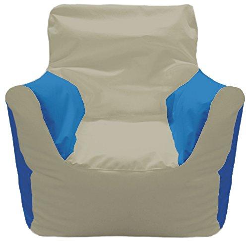 (A2S Protection JoyBean Outdoor Armchair Bean Bag Marine - Water Resistant Ideal for Yacht Pool Football Games Patio Garden Lawn (Cream-SkyBlue))