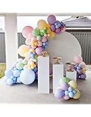 174 stks Pastel Ballon Boog Kit Diverse Kleuren Macaron Ballonnen 5M16ft Latex Regenboog Ballon Garland Pastel Kit voor Verjaardag Bruiloft Kerst Baby Shower Feestartikelen