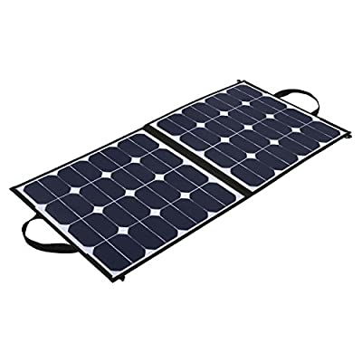 Upgraded Solar Panel 5.5A 18V 100W Portable Foldable Solar Panel Charger for Outdoors , Hunting, Hiking, Camping, Fishing, RV,Boat