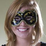 Trimmed Black Masquerade Mask Eye Mask