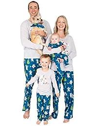 Unisex Family Matching Winter Holiday Pajama Collection, Polar Bears