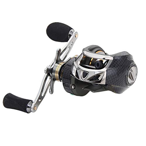 Drag Force 10kg Saltwater Fishing Reel 19BB Speed Ratio 7.0:1 Magnetic&Centrifugal; Brake Carp Bait Casting Reel,Right Hand
