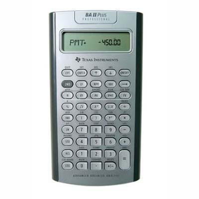 Texas Instruments - Plus Professional Calculator,3''x6''x3/5'',32 Cash Flows, Sold as 1 Each, TEX BAIIPLUSPRO