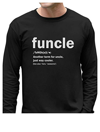 7dd98d088 TeeStars - Funny Uncle Funcle Definition Gift for Uncles Long Sleeve T-Shirt  Medium Black