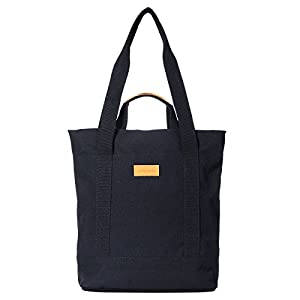 Amber & Ash Laptop Zipper Tote Bag Convertible to Travel & College Backpack for Women and Men, Many Pockets, Water Resistant Anti-Theft for 13 Inch Notebook - Black, Canvas