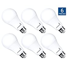 HyperSelect 14W LED A21 - 100W Equivalent LED bulb, E26 Bulb Non-Dimmable, 3000K (Soft White Glow), 1200 Lumen, Medium Screw Base, 340° Omnidirectional - (6 Pack)