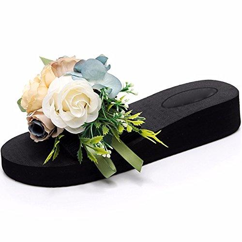 KPHY-Beach - Schuhe Die Frauen Die Im Sommer Draußen Mode Trendy Dicke Hintern Sand Hausschuhe Süß Meer Urlaub