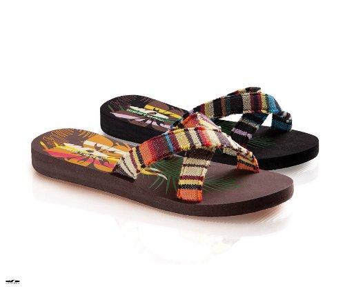 Fashy 7792 Westbay Damen X-Strap Pantolette Peru (Badelatschen) 39