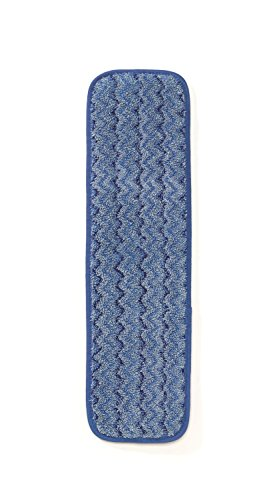 Rubbermaid Commercial (FGQ41000BL00) HYGEN Microfiber Damp Room Mop, 18-Inch, Blue (pack of 12) by Rubbermaid Commercial Products