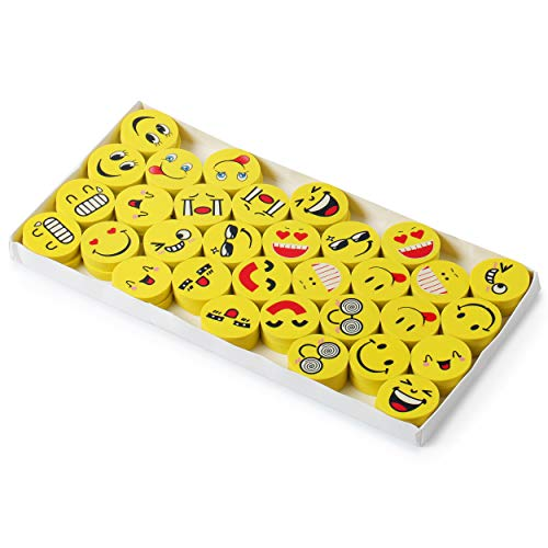 Mr. Pen- Erasers, Pack of 64, Emoji Eraser, Pencil Erasers, Erasers for Kids, School Supplies, Mini Eraser Pencil for Students, Fun Eraser, Cute Erasers, Eraser for School, Prizes for Kids Classroom Photo #3