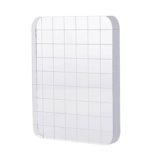LOKIPA Acrylic Block for Stamps Clear Stamp Blocks for Card Making Scrapbooking Stamp with Grid Craft Stamps
