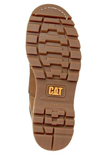 Caterpillar Colorado Beige Hombres Cuero Zapatos Botas