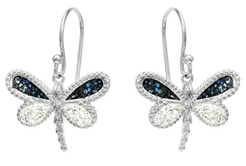- Sterling Silver Swarovski Crystal Dragonfly Earrings