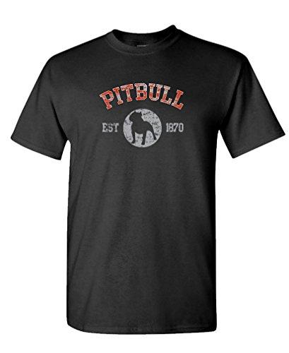 Lover T-shirt Tee (PITBULL PATCH - canine dog lover Tee Shirt T-Shirt, L, Black)