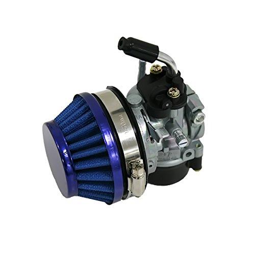 JRL High Performance 60mm Blue Air Filter Carburetor For 49cc 60cc 80cc Motor Motorized Bike - High Carburetor Performance