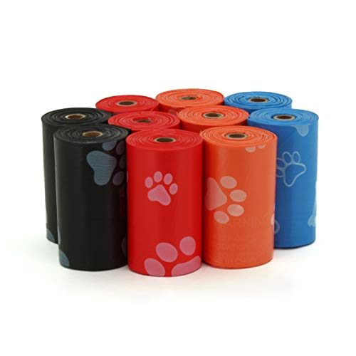 Best Pet Supplies Dog Poop Bags, Rip-Resistant and Doggie Waste Bag Refills with d2w Controlled-Life Plastic Technology