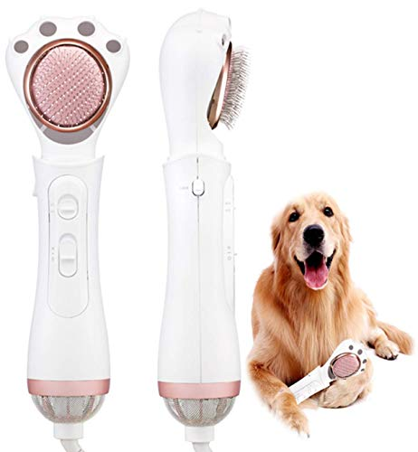 Premium Quiet Hair Dryer For Cats With Slicker and Pin Brush