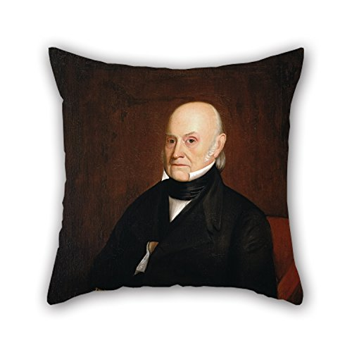 Jr Twin Chair Cover (Uloveme Oil Painting William Hudson, Jr. - Portrait Of John Quincy Adams (1844) Pillow Covers ,best For Deck Chair,kids Boys,play Room,adults,bar,son 20 X 20 Inches / 50 By 50 Cm(2)